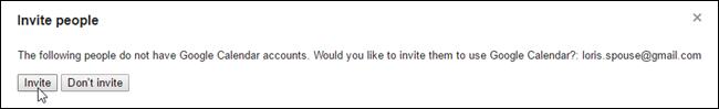 Clicking Invite